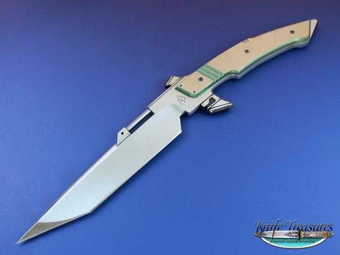 Custom Fixed Blade, N/A, ATS-34 Stainless Steel, Titanium Knife made by Jose DeBraga