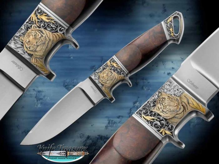 Custom Fixed Blade, N/A, RWL-34 Stainless Steel , Ironwood Knife made by Fabrizio Silvestrelli