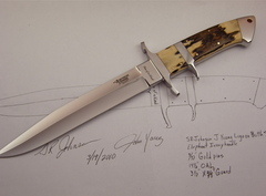 Custom Knife by J Young SR Johnson