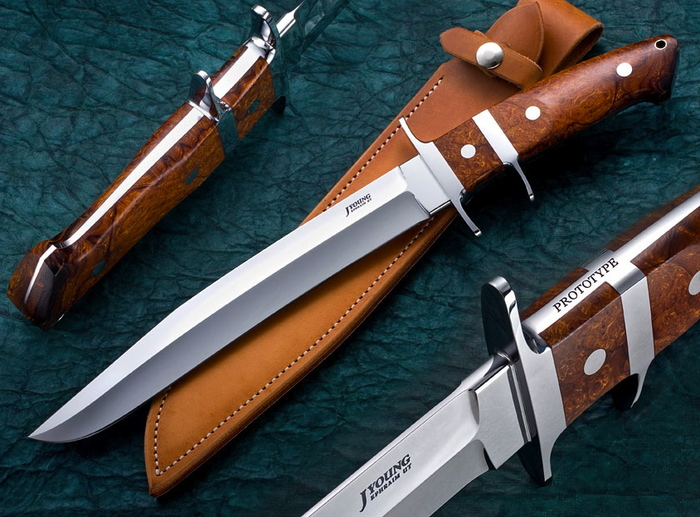 Custom Fixed Blade, N/A, ATS-34 Steel, Ironwood Knife made by John  Young