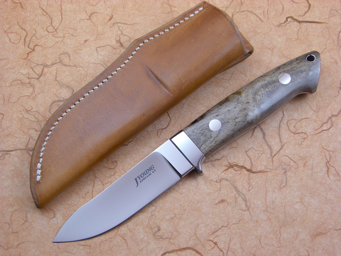 Custom Fixed Blade, N/A, ATS-34 Steel, Oosic Knife made by John  Young