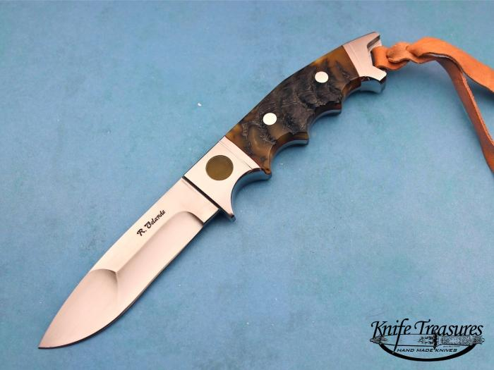 Custom Fixed Blade, N/A, BG-42 Stainless Steel, Himalayan Sheep Horn Knife made by Ricardo  Velarde