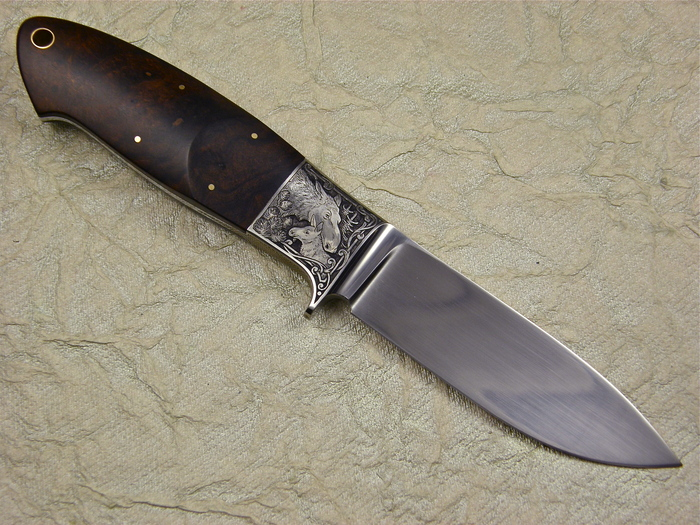 Custom Fixed Blade, N/A, CPM S90V, Ironwood Knife made by Michael Jankowsky