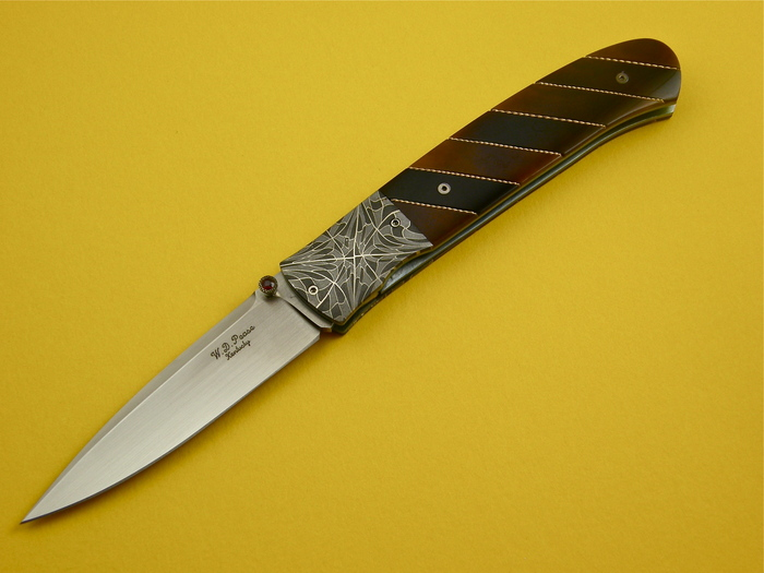 Custom Folding-Bolster, Liner Lock, ATS-34 Steel, Exotic Scales Knife made by Bill  Pease