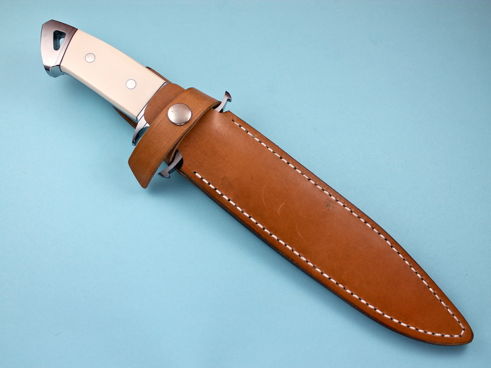 Custom Fixed Blade, N/A, BG-42 Stainless Steel, Antique Ivory Knife made by Dietmar Kressler