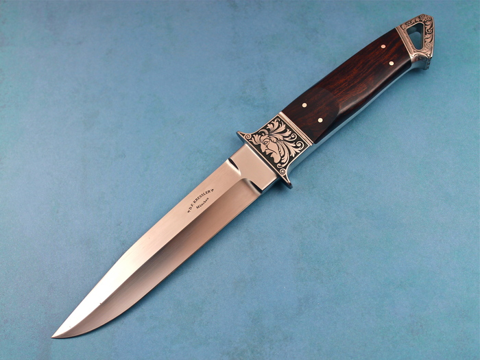 Custom Fixed Blade, N/A, ATS-34 Stainless Steel, Ironwood Knife made by Dietmar Kressler