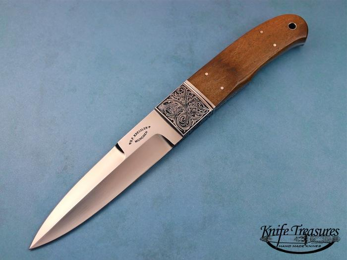 Custom Fixed Blade, N/A, BG-42 Stainless Steel, Oosic  Knife made by Dietmar Kressler