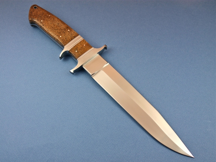 Custom Fixed Blade, N/A, BG-42 Steel, Whale Bone Knife made by Dietmar Kressler