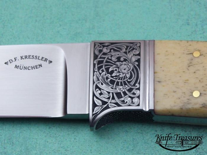 Custom Fixed Blade, N/A, RWL-34 Steel, Oosic Knife made by Dietmar Kressler