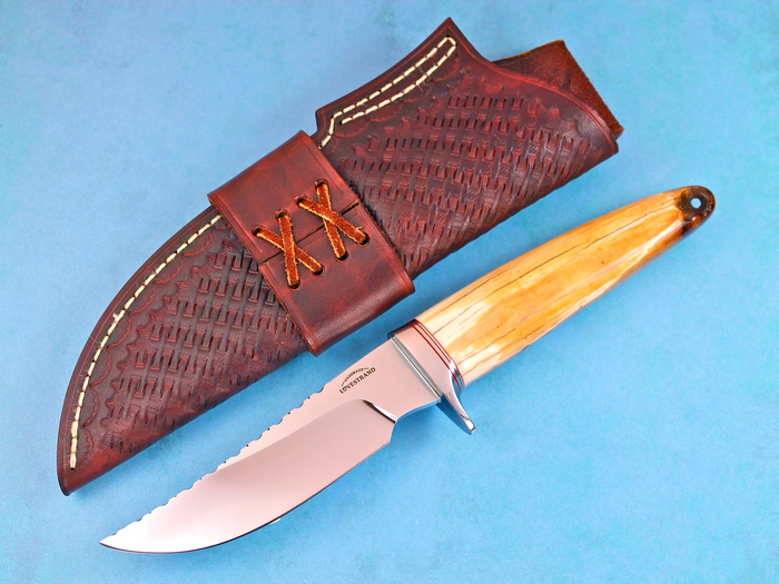 Custom Fixed Blade, N/A, CPM-154, Fossilized Walrus Ivory Knife made by Schuyler Lovestrand