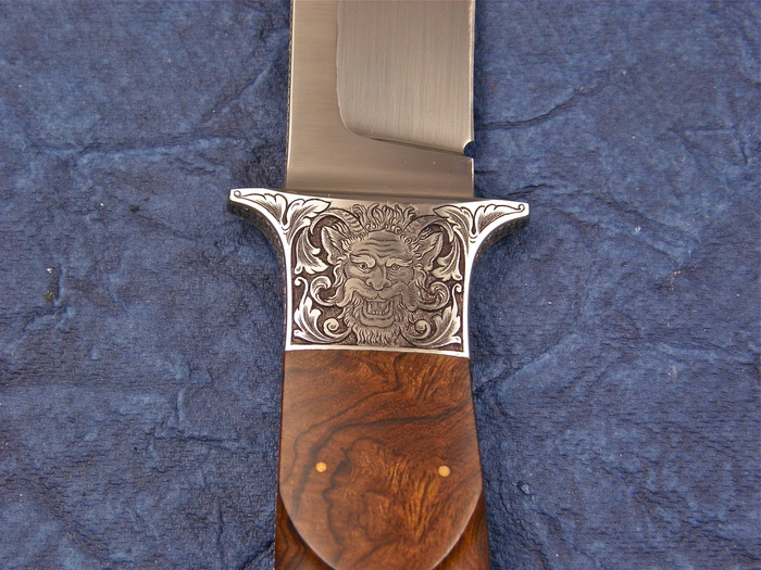 Custom Fixed Blade, N/A, Elmax-Super Clean, Ironwood Knife made by Michael Jankowsky