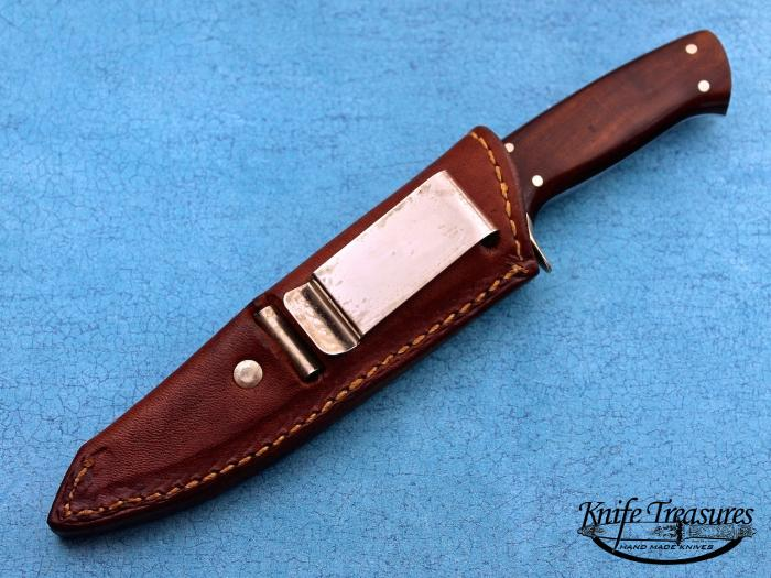 Custom Fixed Blade, N/A, ATS-34 Stainless Steel, Desert Ironwood Knife made by Joe Kious