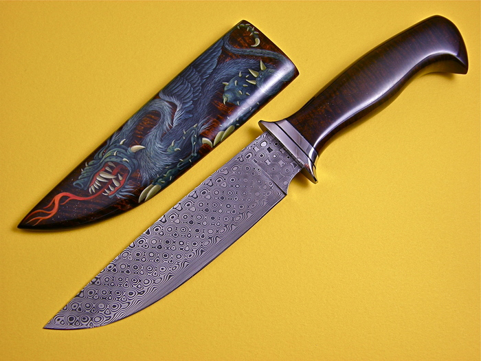 Custom Fixed Blade, N/A, 440-C Stainless Steel, 0 Knife made by David Brodziak