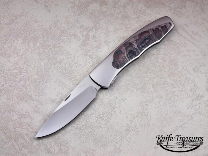 Custom Folding-Inter-Frame, Self Lock, ATS-34 Stainless Steel,  Knife made by Scott Sawby