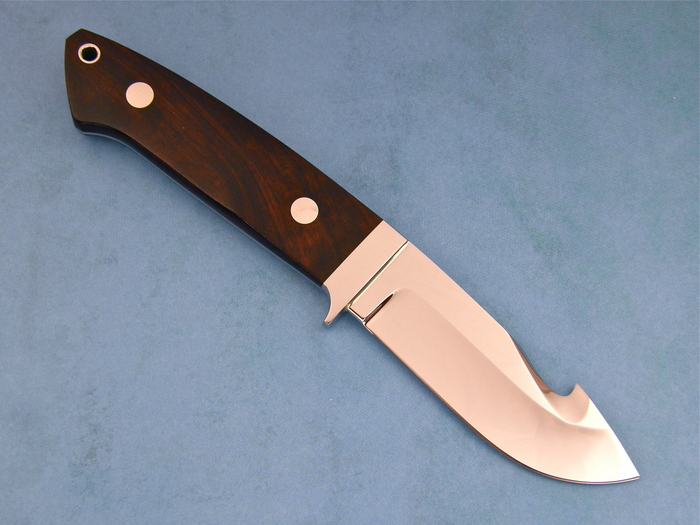 Custom Fixed Blade, N/A, ATS-34 Stainless Steel, Ironwood Knife made by Steve SR Johnson