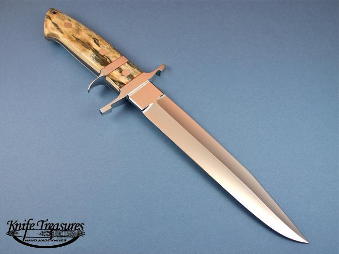 Custom Fixed Blade, N/A, ATS-34 Stainless Steel, Fossilized Mammoth Knife made by Steve SR Johnson