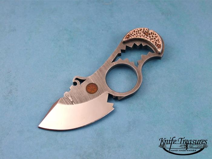 Custom Fixed Blade, N/A, Darkwater Steel, Silver Knife made by Oleksander Bogdanovich